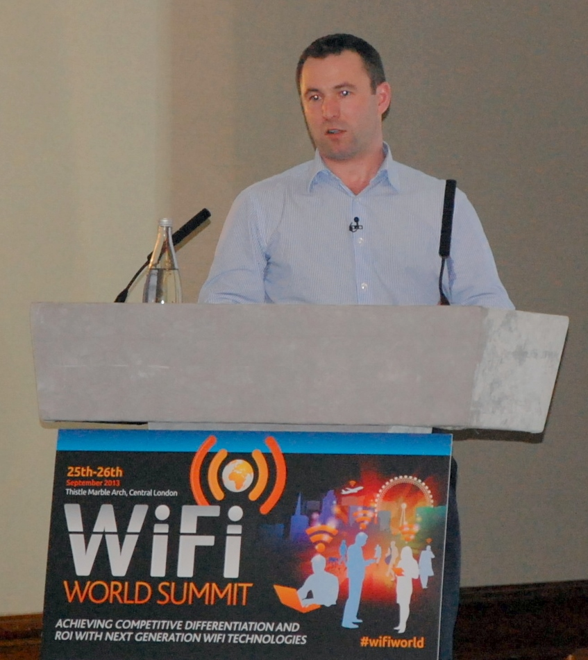 Founder of MyPlace Connect presents at WiFi World Summit